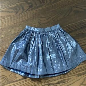 Shiny blue skirt